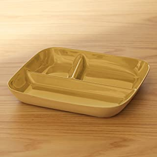 [ベルメゾン] ランチプレート 深め すくいやすい 仕切り皿 美濃焼 食洗機対応 日本製 マスタード