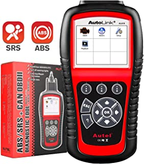 Autel Autolink AL619 OBD2 Scanner ABS SRS Airbag Warning Light Scan Tool, Turn Off Check Engine Light Car Diagnostic Tool,...