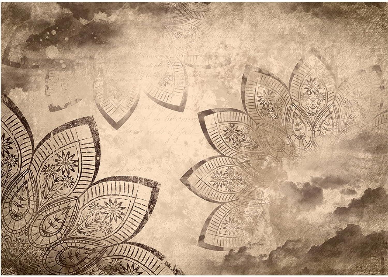 Vlies Fototapete PREMIUM PLUS Wand Foto Tapete Wand Bild Vliestapete - Mandala Illustration Blaume - no. 1740, Gre 416x254cm Vlies
