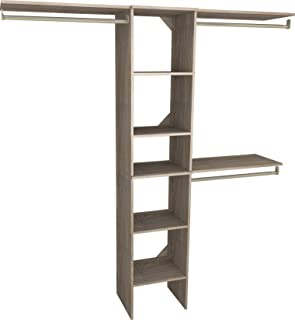 ClosetMaid 1951140 SuiteSymphony 16-Inch Closet Organizer with Shelves, Natural Gray