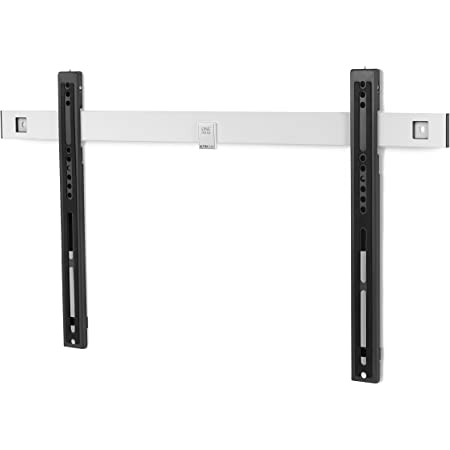 One For All Ultra Slim TV Wall Bracket Mount – Screen Size 32-84 Inch - for All Types of TVs (LED LCD Plasma) – Max Weight 80kgs – VESA 100x100 to 600x400 – Free Toolbox app – Black White– WM6611