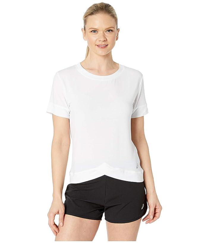 ASICS  Front Fold Tee (Brilliant White) Womens Clothing
