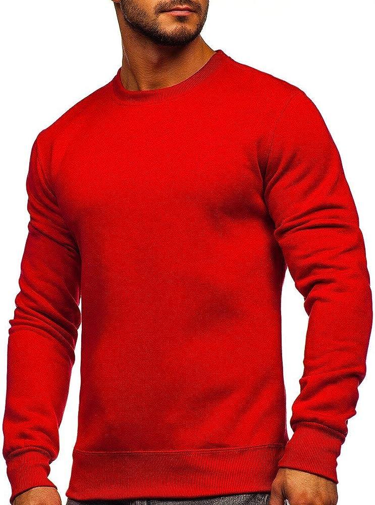 Bolf, felpa, maglia  senza cappuccio  sportiva, pullover , girocollo per uomo , 65% cotone, 35% poliestere J.STYLE 2001