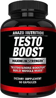 TestoBoost Test Booster Supplement – Potent & Natural Herbal Pills –..