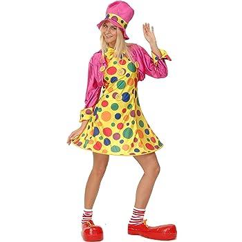 Costume CLOWN DONNA CLOWN PAGLIACCIO DONNA COSTUME CLOWN DONNA Vestito Clown Colorato M 40//42