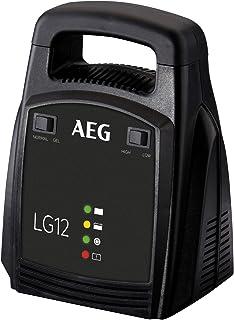 AEG Automotive 10274 ładowarka do akumulatorów LG (12 V, 12 A, wyświetlacz LED, ładowarka podtrzymująca)