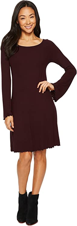 Viscose Rib Easy Dress
