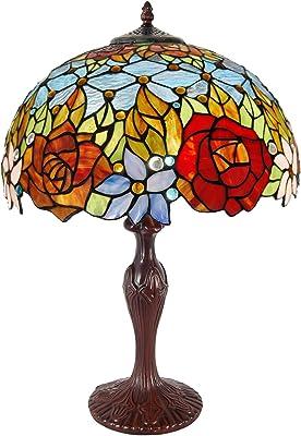 Lampe de table florale