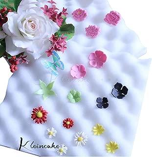 2Pcs Sugarcraft Fondant Foam Pad Dry Flower Sponge Mats Gum Paste Shaping Mold Decorating Bakeware Tool