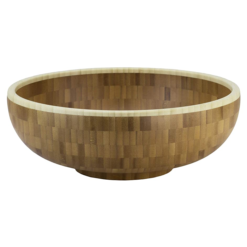 Totally Bamboo Classic Large Bamboo Serving Bowl, 12