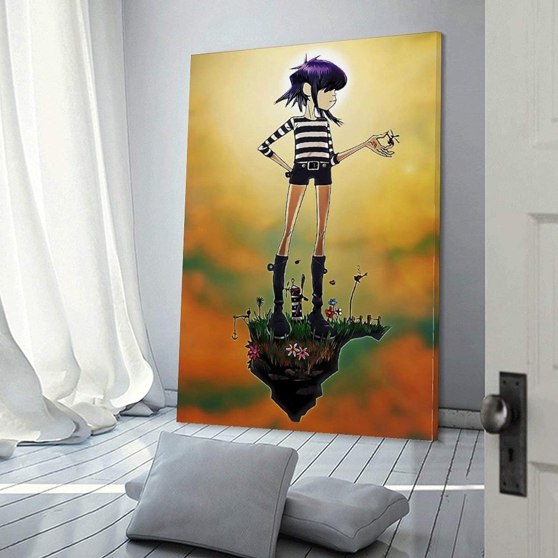 20 x 30 cm lienzo para sala de estar P/óster decorativo de pared dormitorio Gorillaz