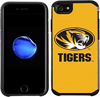 Prime Brands Group Textured Team Color Cell Phone Case for Apple iPhone 8/7/6S/6 - NCAA Licensed University of Missouri Ti...