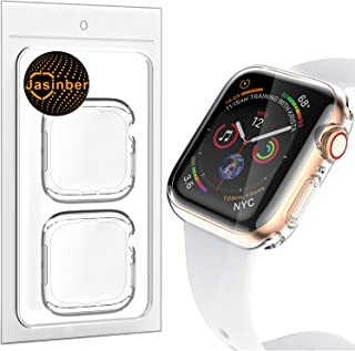 Jasinber 2-Pack Protector de visualización Completa Funda Carcasa Case Transparente Compatible con Apple Watch Series 4 (4...