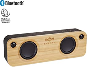 House of Marley, Get Together Bluetooth Portable Audio System - 3.5 Woofer & 1 Tweeters, 30m Wireless Range, 8 hour Playtime,Built In Battery, Sustainably Crafted, EM-JA006SB Signature Black