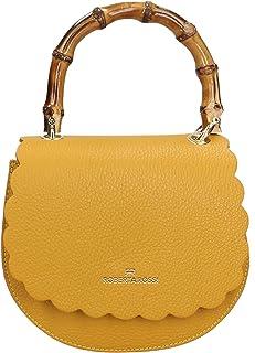 Roberta Rossi Outlet borsa a mano da donna in vera pelle Dollaro fatta a mano in Italia, 18x19x8 cm. Made in Italy RRSS200...