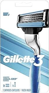 Gillette3 Men's Razor Handle With 2 Refills