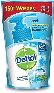 Dettol pH Balanced Liquid Handwash Refill Pouch, Cool - 185 ml (Buy 2 get Rs 15 off)