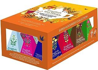 DEU English Tea Shop Assortimento di Tè e Tisane ai Sapori di Frutta e Spezie in Cofanetto Regalo - 1 x 12 Piramidi di Tè 24 Grammi