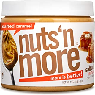 Nuts 'N More Salted Caramel Peanut Butter Spread, All Natural High Protein Nut Butter Healthy Snack, Omega 3's, Antioxidan...