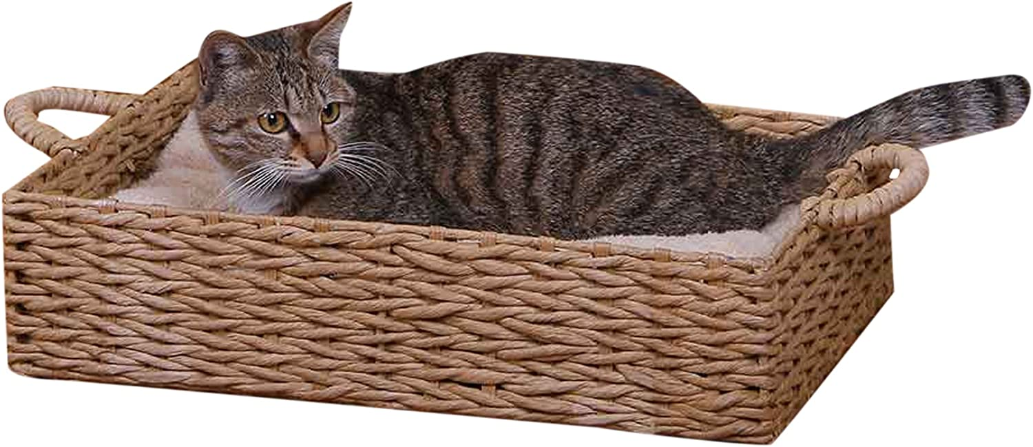 PetPals Seagrass Pet Box Bed, One Size