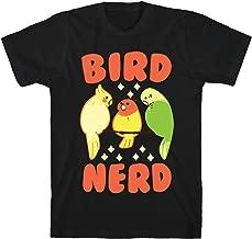 LookHUMAN Bird Nerd Black Men's Cotton Tee