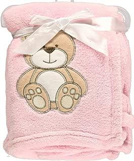 """Snugly Baby """"Teddy Bear Dream"""" Plush Blanket (Pink)"""