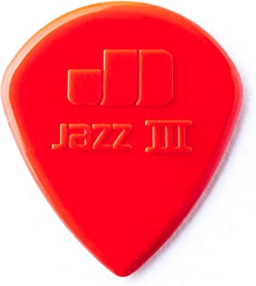 Dunlop 47P3N Nylon Jazz III, Red, 1.38mm, 6/Player's Pack
