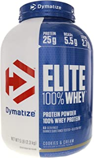 Dymatize Nutrition Gourmet Elite, Cookies and Cream, 5-Pound