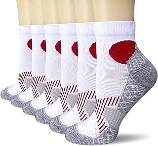 Women's Performance Cushion Quarter Athletic Socks for Running, Tennis, Training (6 Pack)