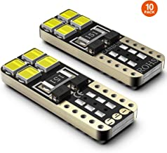 SEALIGHT 194 LED Bulb Error Free 168 T10 2825 W5W Super Bright 8SMD Chipset Car Interior Dome Map Courtesy Trunk Lights License Plate Marker Light Bulbs 6000K Cool White