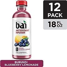 Bai Flavored Water, Burundi Blueberry Lemonade, Antioxidant Infused Drinks, 18 Fluid Ounce Bottles, 12 count