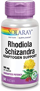 Solaray Rhodiola and Schizandra Supplement, 500 mg | 60 Count