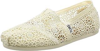 حذاء برقبة حريمي من TOMS 10007858 من الكروشيه المغربي الطبيعي