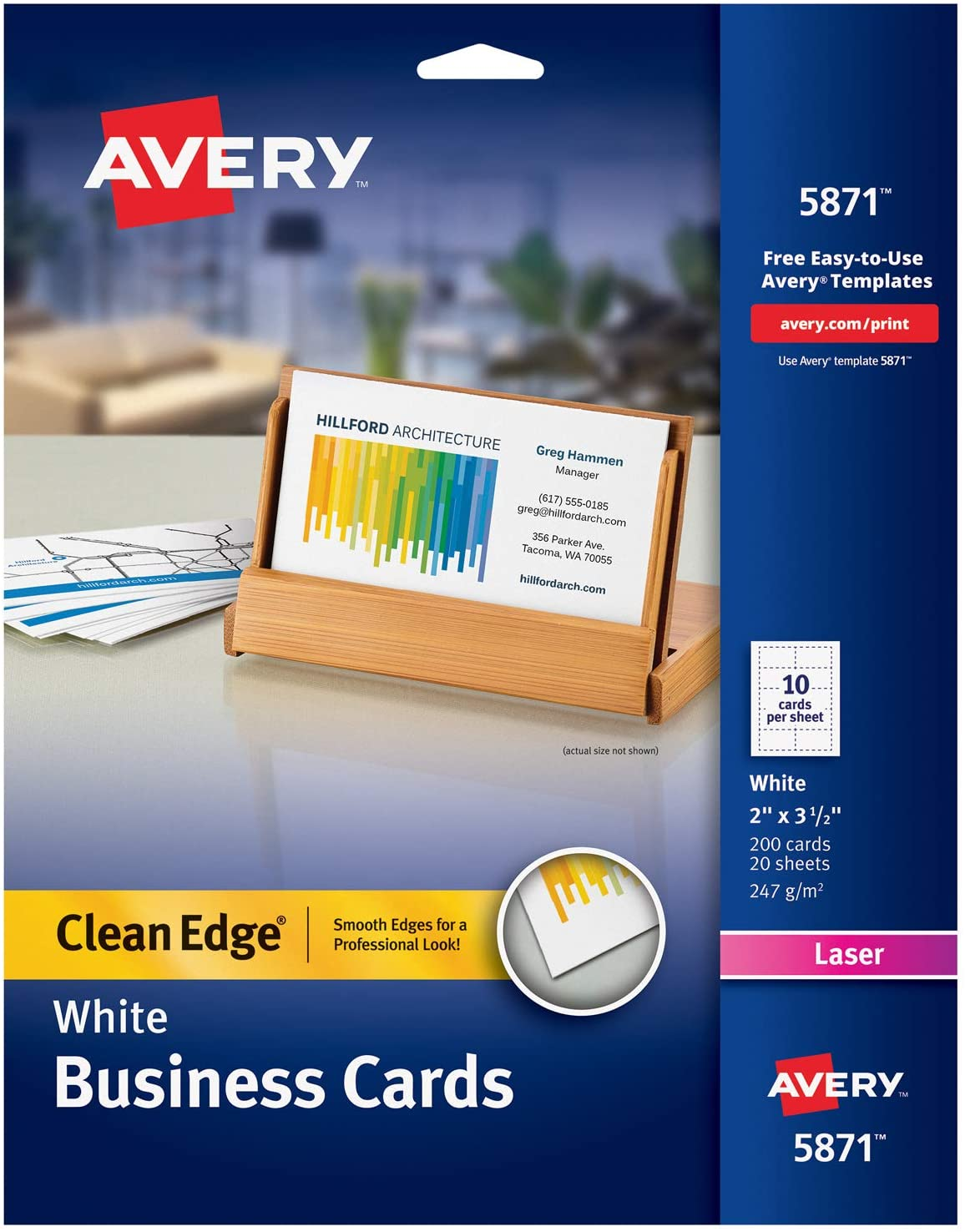 Avery Printable Ranking TOP9 Business Cards Laser 2 200 Printers x shipfree 3