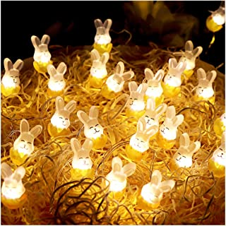 Cute Rabbit String Lights Bunny Fairy Lights 10FT 30 LED Battery Warm White Night Light Waterproof Outdoor Indoor Room Bedroom Wall Home Décor Wedding Birthday Party Garden Decoration
