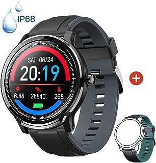 Smartwatch Reloj Inteligente con un Correa Verde Oscuro Reemplazable Impermeable IP68 Pulsera Actividad Monitor de Sueño C...