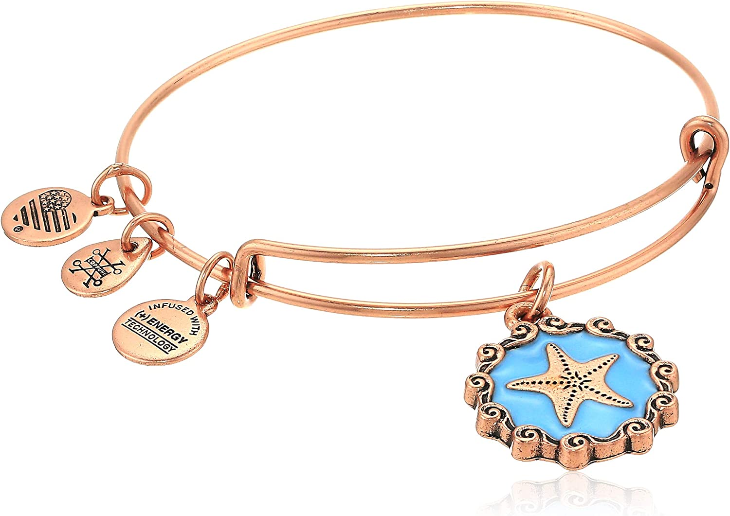 Alex Challenge the Outlet SALE lowest price of Japan and Ani Women's Color Infusion Star Fish Charm Brac Bangle