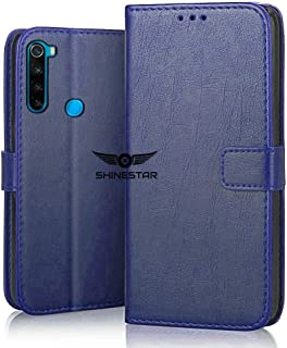 SHINESTAR PU Leather Flip Wallet Case with TPU Shockproof Cover for Xiaomi Redmi Note 8 (Blue, Xiaomi Redmi Note 8)