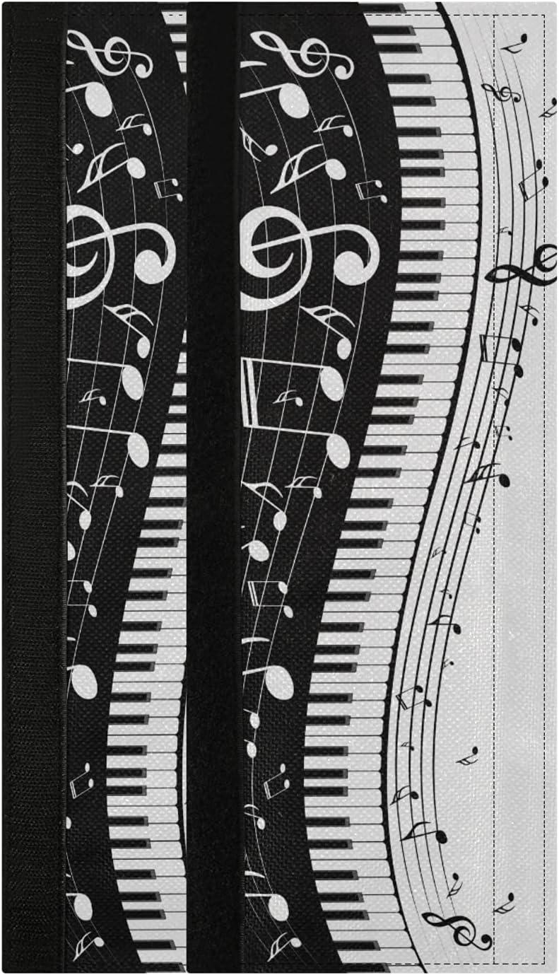 Music Note Refrigerator Door Handle Covers 2PCS Vintage Retro Mu