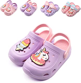 Sponsored Ad - Kids Clogs Unicorn Shoes Girls Indoor Outdoor Slippers Summer Soft Beach Pool Sandals
