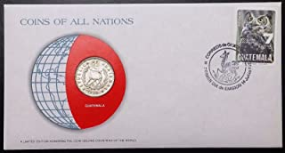 COINS OF ALL NATIONS SERIES 1979 GUATEMALA 25 CENTAVOS SEALED IN COA CARD BU
