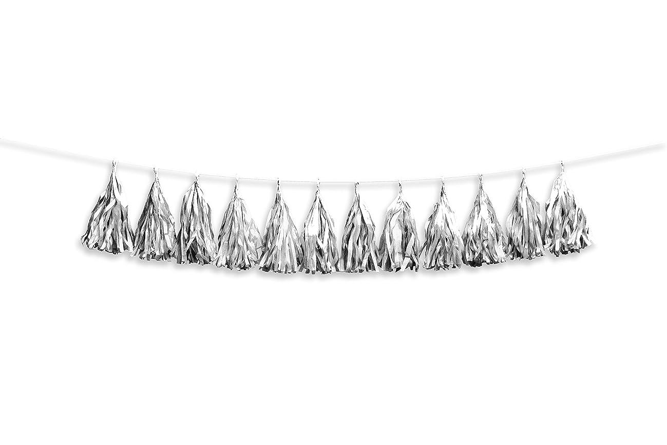 Darice Silver Tissue Tassel Garland, 100 Piece