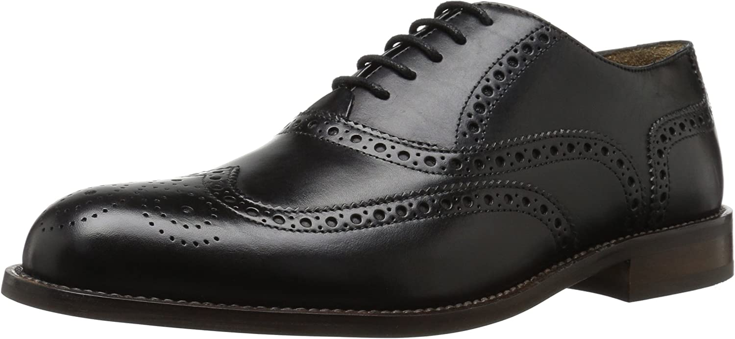 Florsheim Men's Pascal Wingtip Oxford, Black, 9 D US