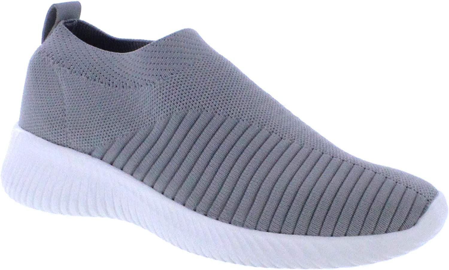 Womens Running shoes Fashion Sneakers Mesh Lightweight Breathable Casual Walking shoes (7, Grey)