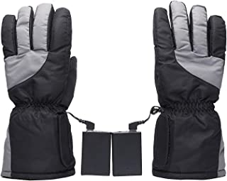 JVSISM Heated Gloves with Rechargeable Li-Ion Battery Heated for Men and Women,Warm Gloves for Cycling Motorcycle Hiking Skiing
