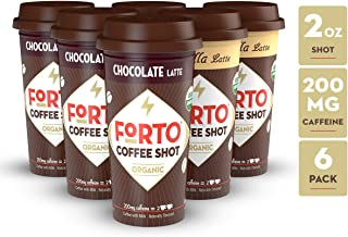 FORTO Coffee Shots - 200mg Caffeine, Variety Pack, Ready-to-Drink on the go, Cold Brew Coffee Shot - Fast Coffee Energy Boost, Pack of 6
