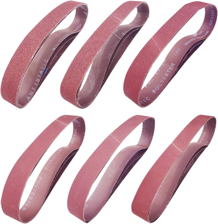 Popular brand in the world Sackorange 18 PCS 1-1 2 inch x Sanding 30 35% OFF Belts Abrasive -