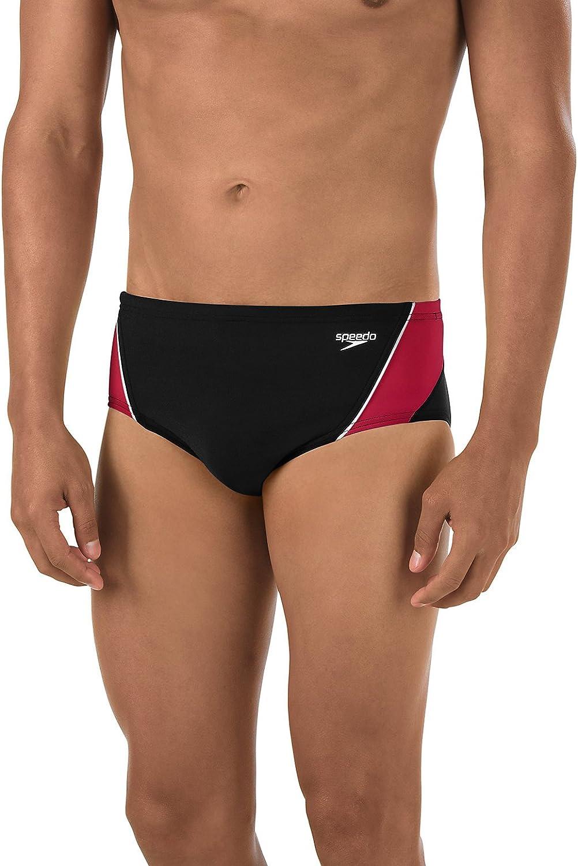 Splice Team Colors Manufacturer Discontinued Speedo Mens Swimsuit Brief Endurance
