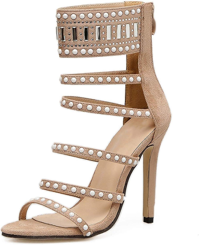 High Heel Sandals Women Sandals Sexy Open Toe High Heels Pump Boots Crystal Sandals