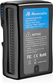 Powerextra V Mount V-Lock Battery 190Wh 13400mAh Compatible with Sony Video Camera Camcorder Broadcast LED Light Replaceme...